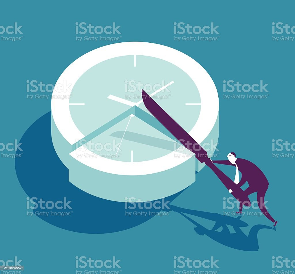 Time slice vector art illustration