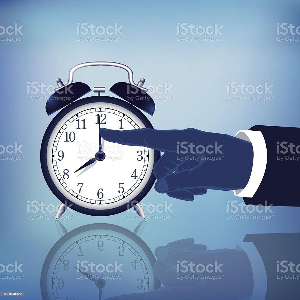 Time Stop vector art illustration