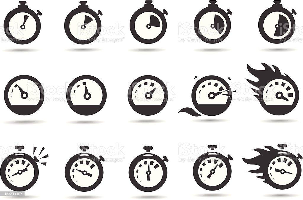 Time Symbols vector art illustration