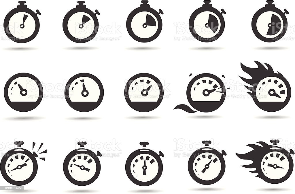 Time Symbols vector art illustration