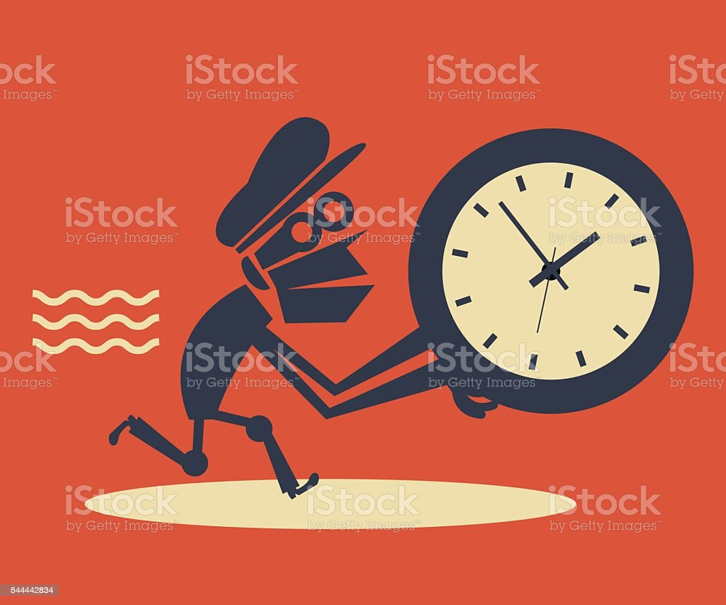 Time Thief Concept: What's Stealing Your Time vector art illustration