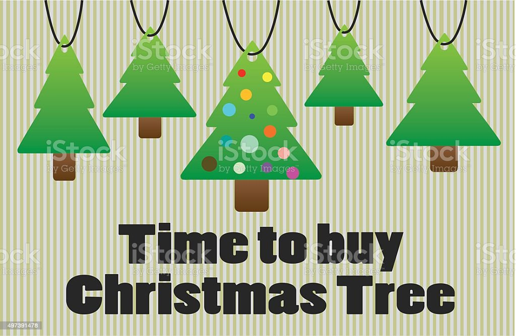 Time to buy christmas tree royalty-free stock vector art