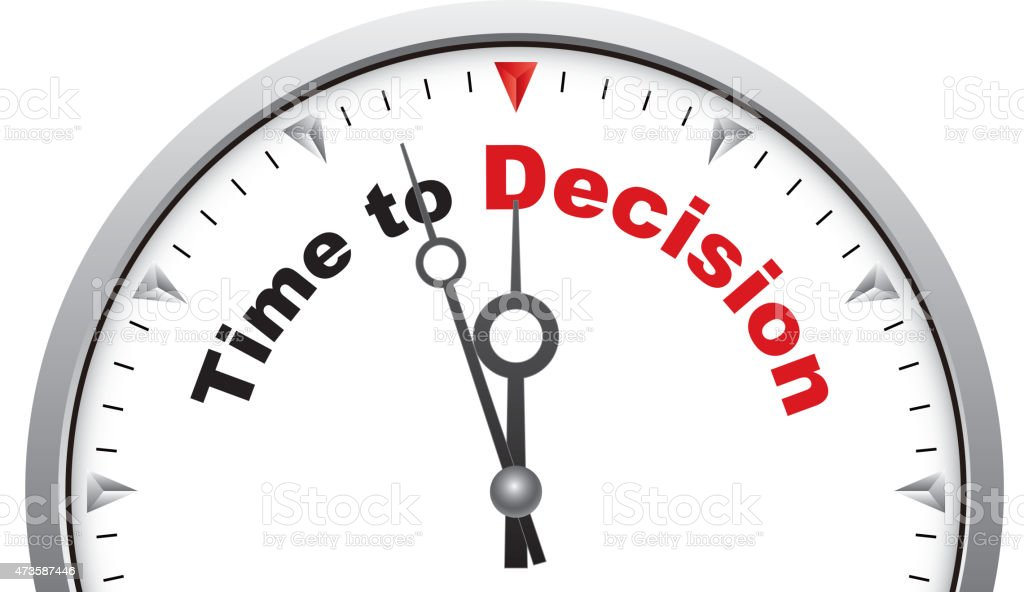 Time to decision vector art illustration