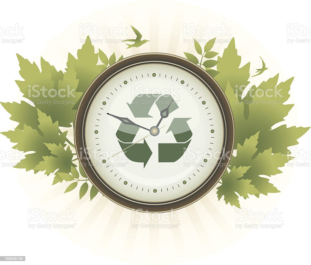 Time To Recycle royalty-free stock vector art