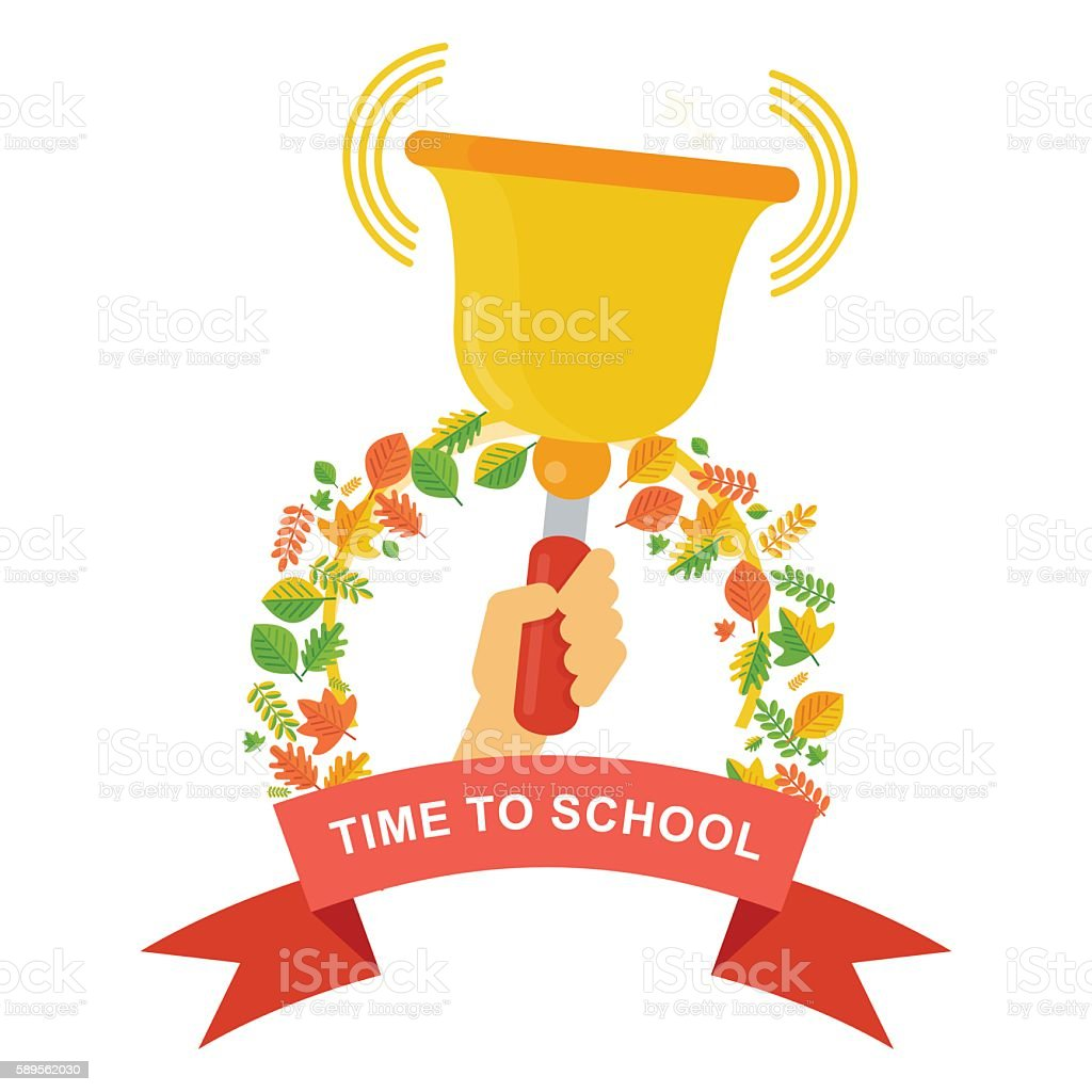 time to school poster vector art illustration