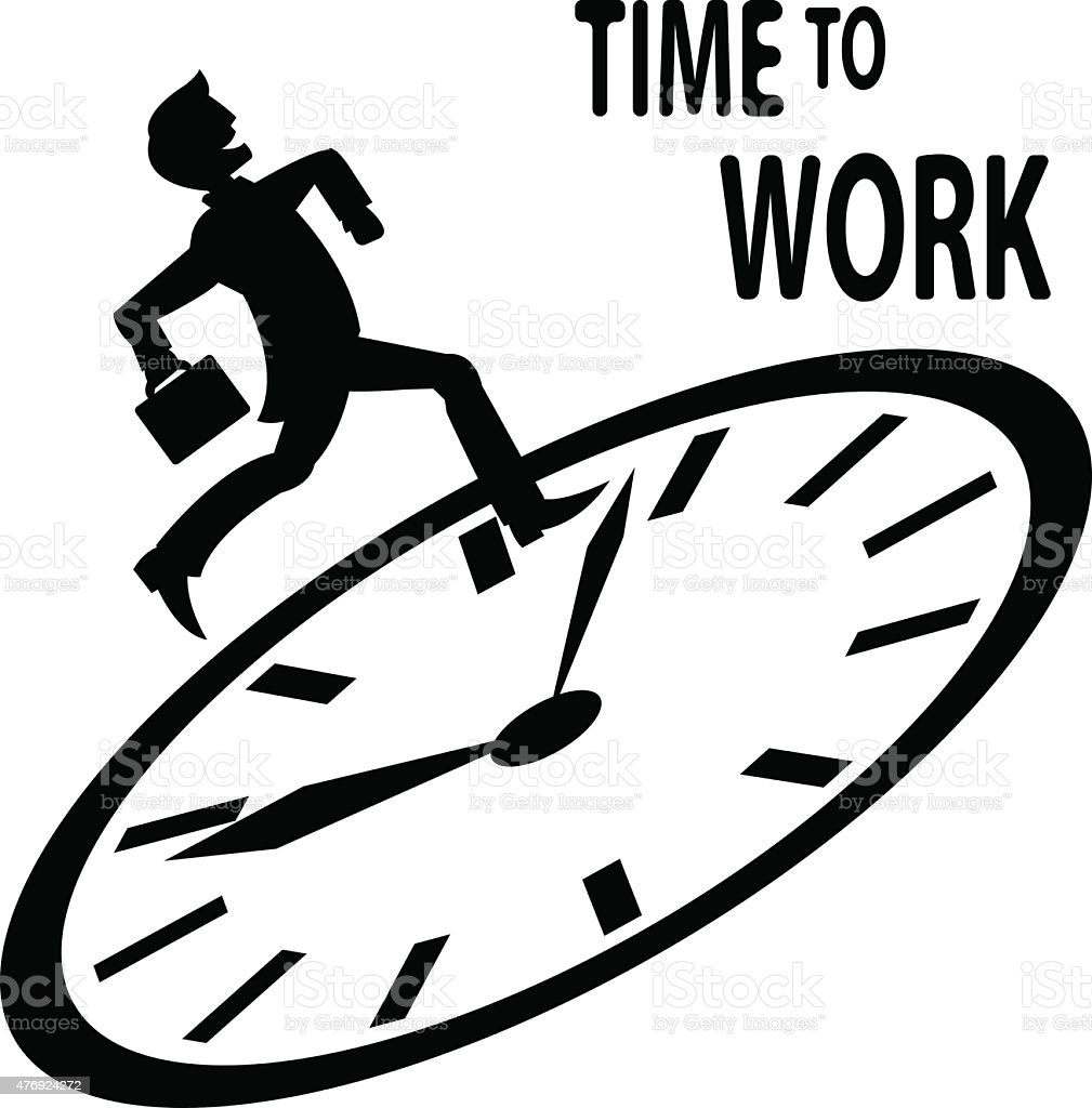 Time to work vector art illustration