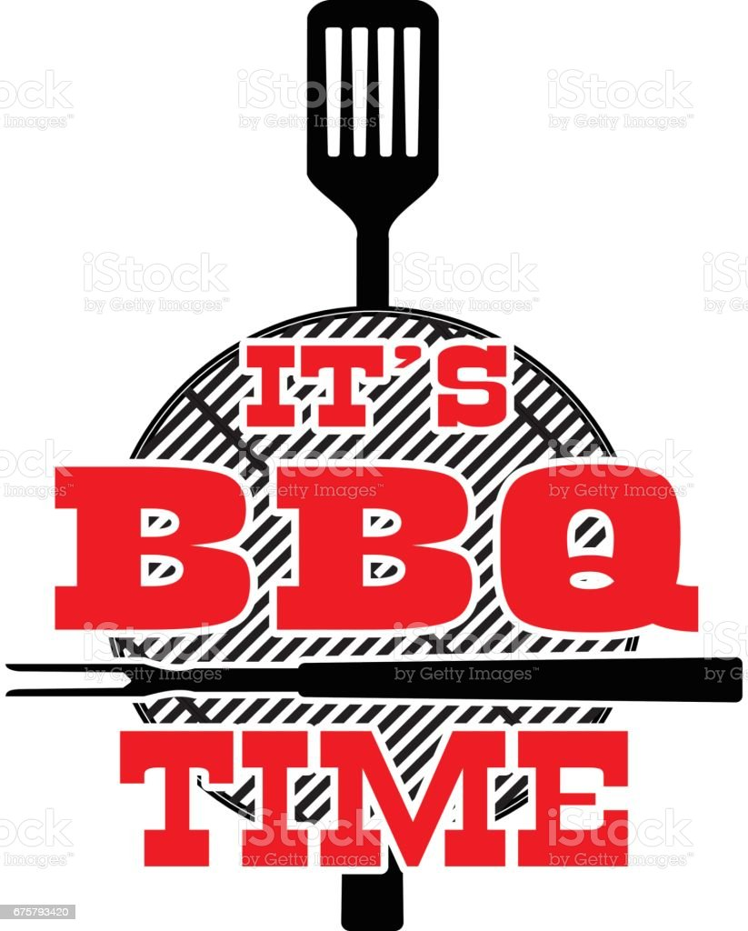 BBQ Time vector art illustration