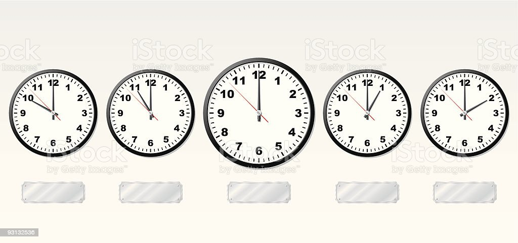 Time zones. royalty-free stock vector art
