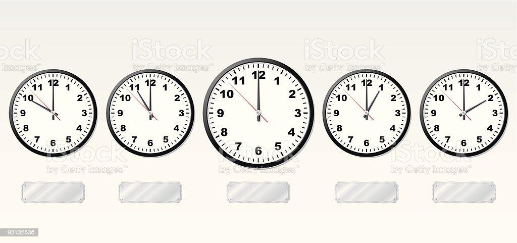 Time zones. vector art illustration