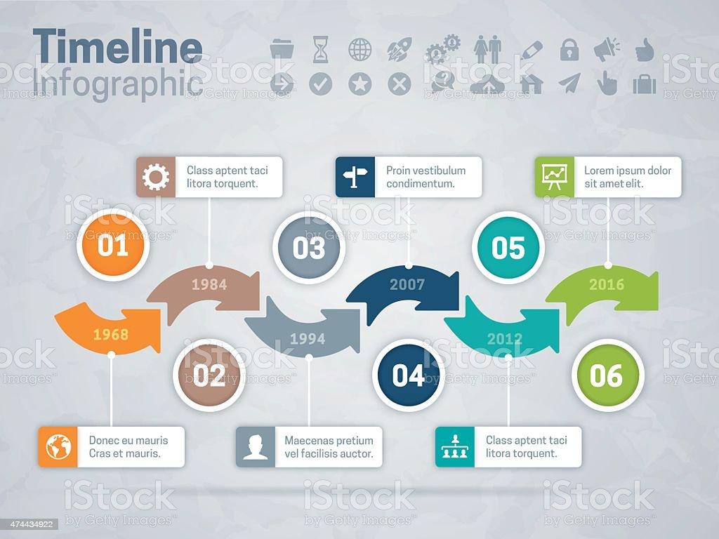 Timeline Arrows Concept vector art illustration