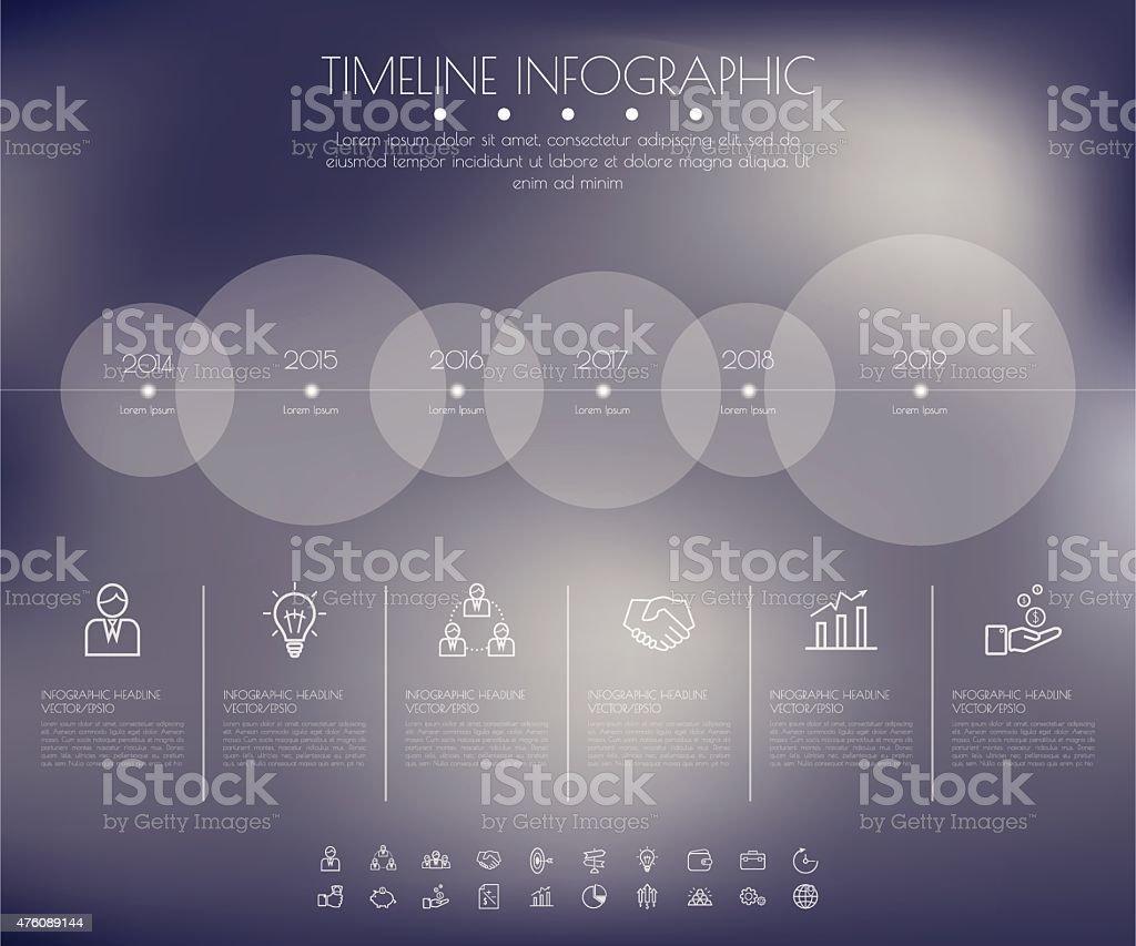 Timeline Circles Infographic. Flat Vector design template. vector art illustration