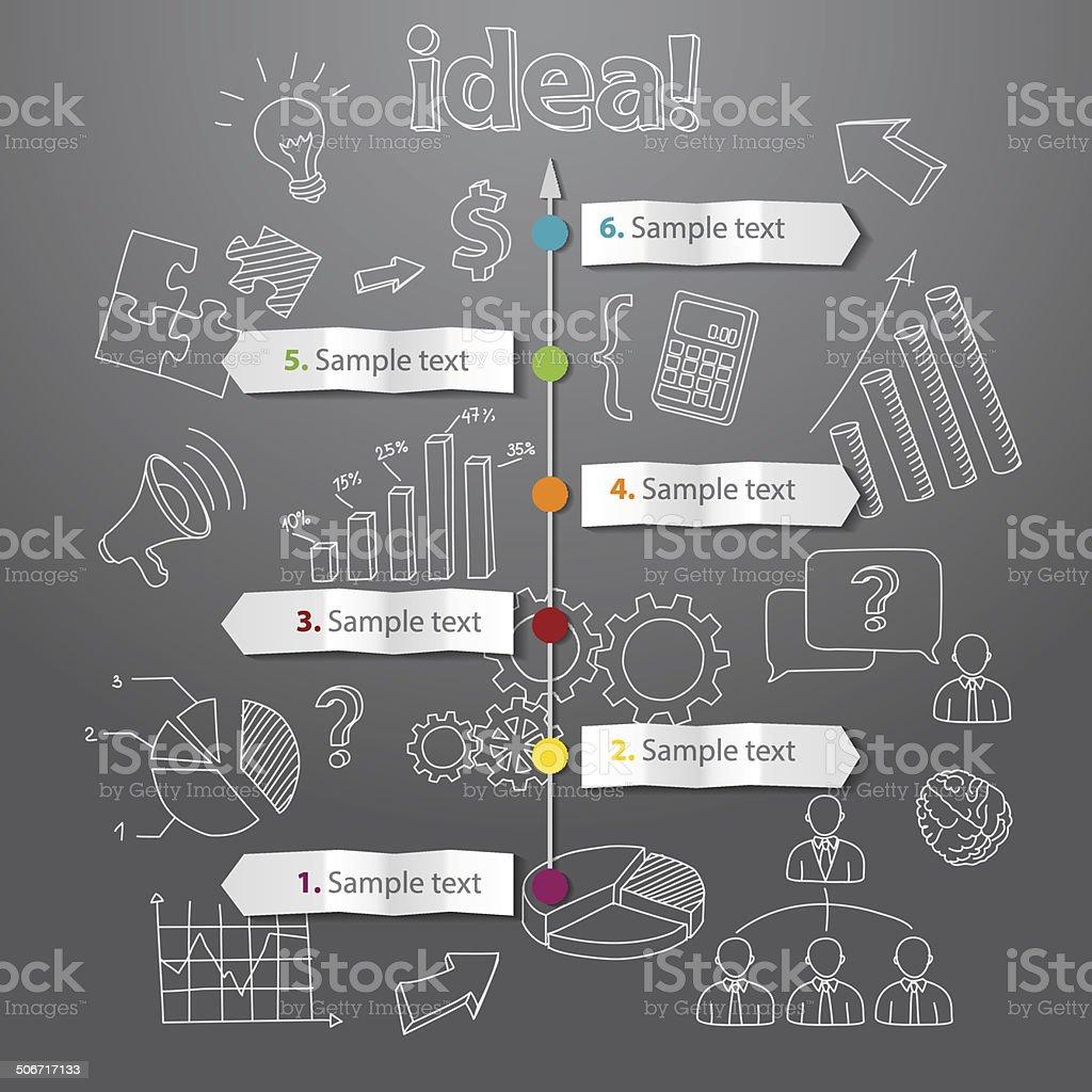 Cronograma de vetor de Fundo de conceito de idéia geração vetor e ilustração royalty-free royalty-free