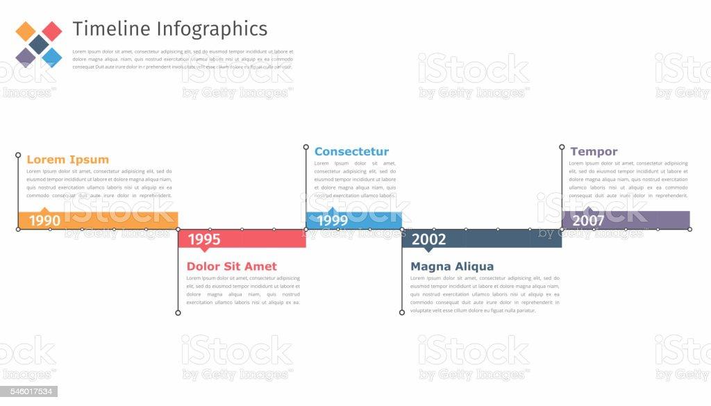 Timeline In vector art illustration
