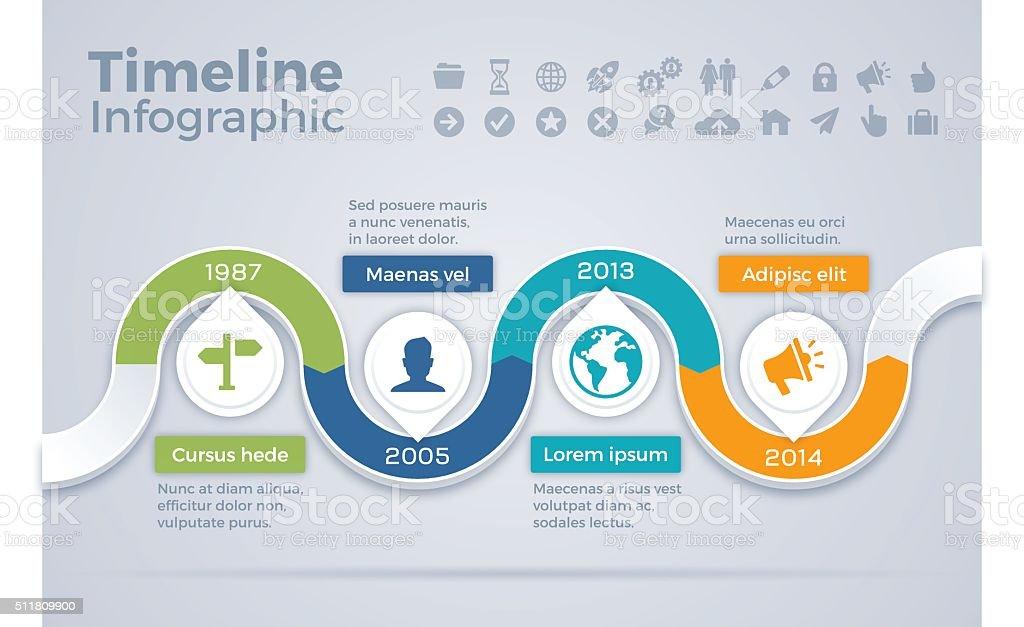 Timeline Infographic Concept vector art illustration