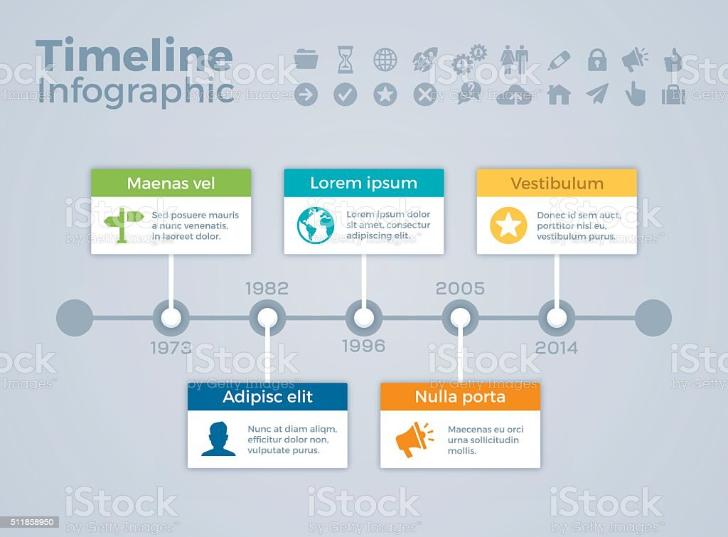 Timeline Infographic Concept stock vector art 511858950 ...