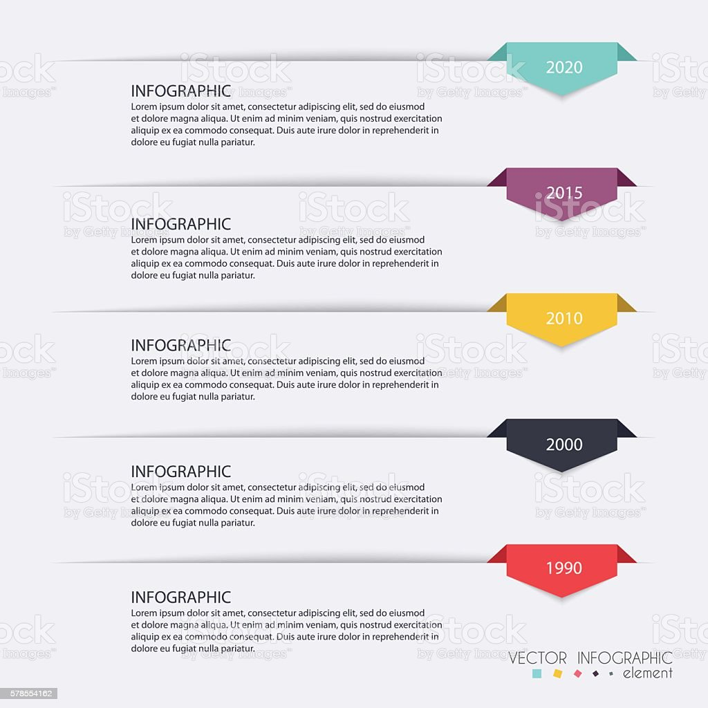 Timeline Infographic Design Templates. Charts, Diagrams and othe vector art illustration
