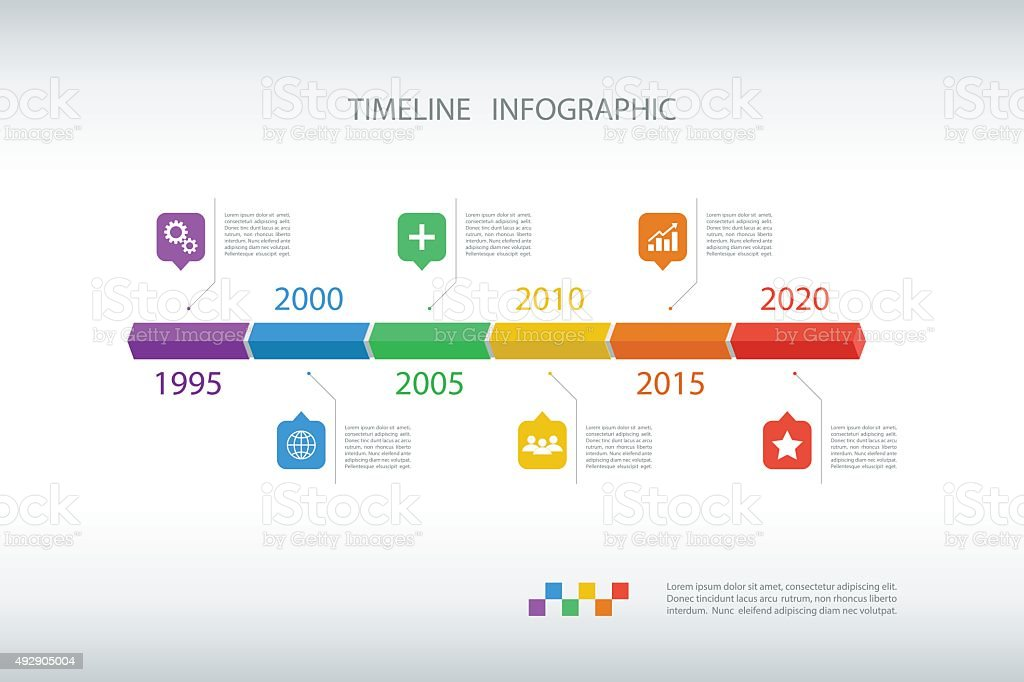 Timeline infographic design template.Vector illustration. vector art illustration