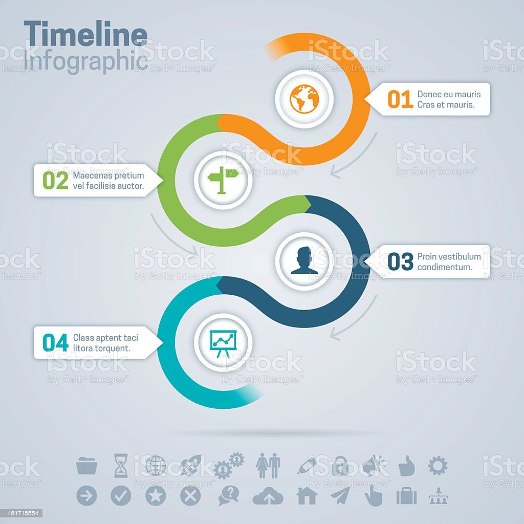 Timeline Infographic vector art illustration
