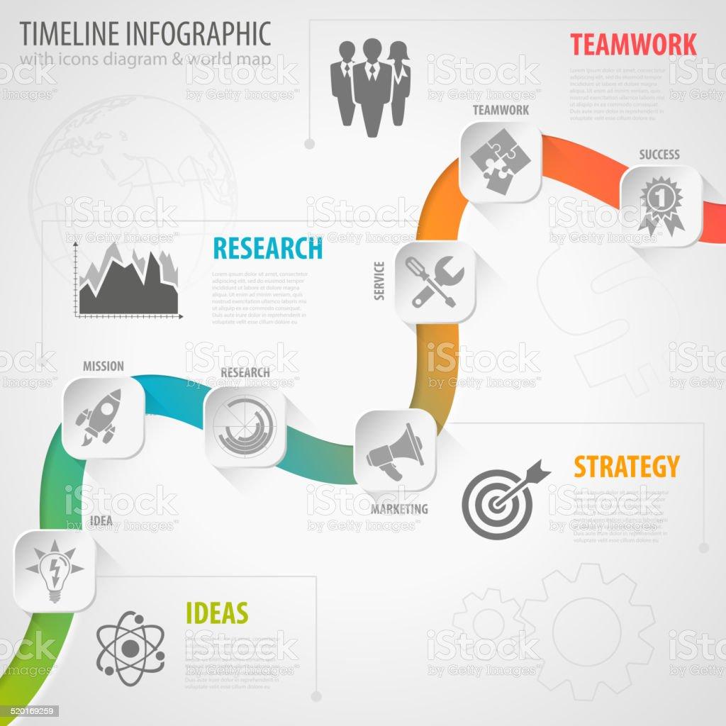 Timeline Infographic vector art illustration