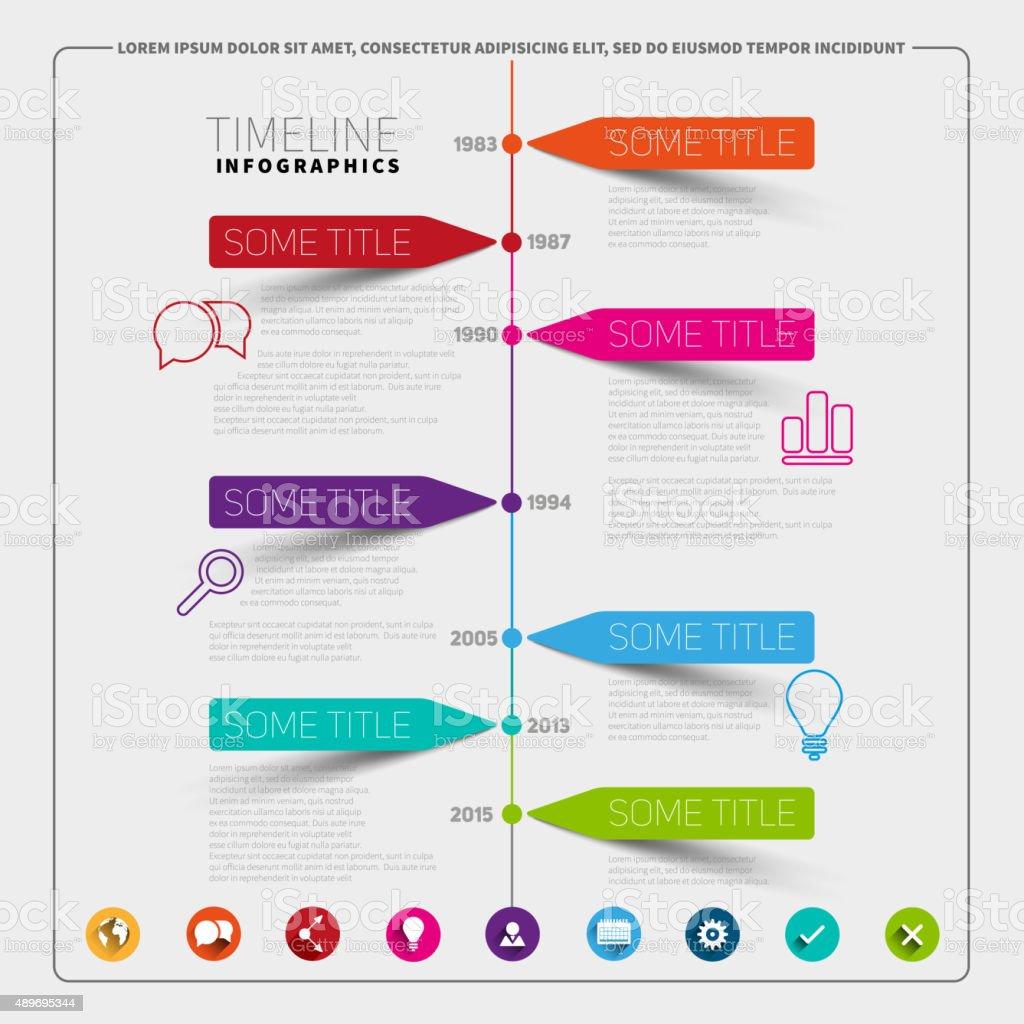 timeline infographics design template stock vector art 489695344 istock. Black Bedroom Furniture Sets. Home Design Ideas