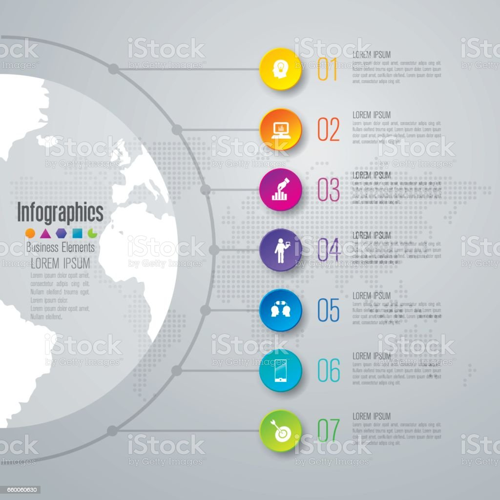 Timeline infographics design vector and business icons. vector art illustration