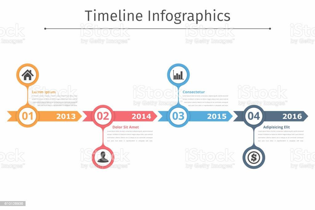 Timeline Infographics vector art illustration