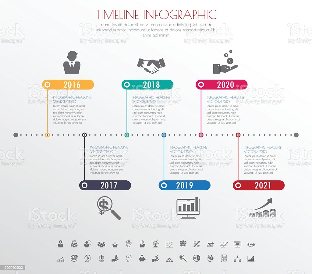 Project timeline clipart