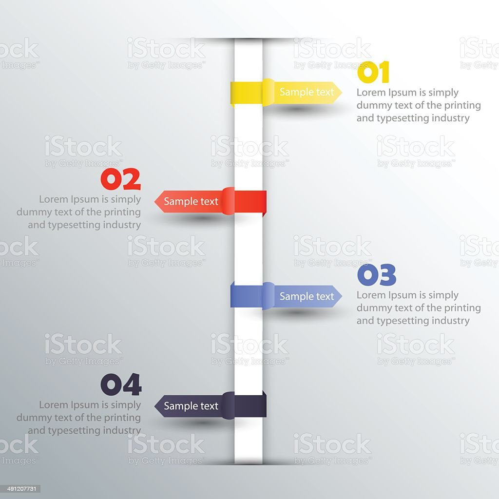 Timeline - Inforgraphic elements vector art illustration