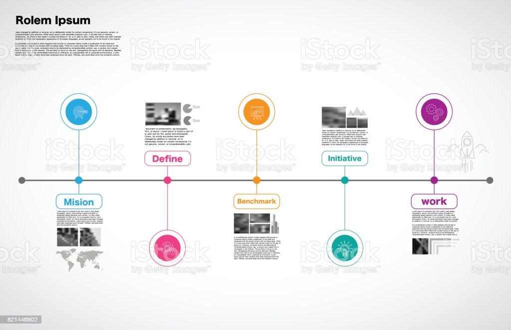 Timeline Process, Milestone, business, strategy concept, vector vector art illustration