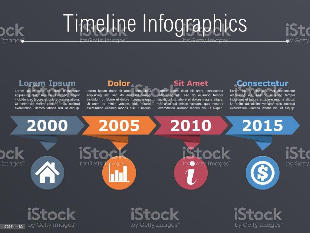 Timeline Template vector art illustration