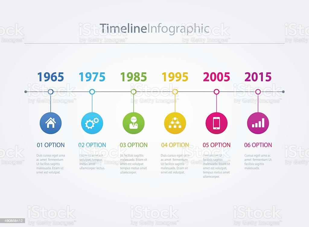 Timeline vector art illustration
