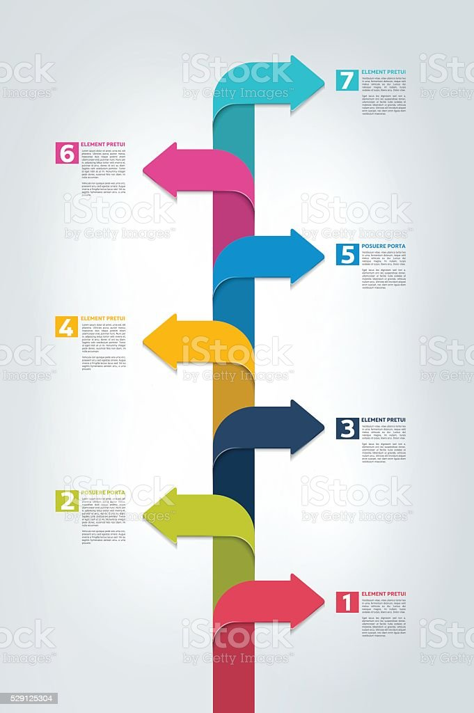 Timeline Vertical Report Template Chart Scheme Step By Step