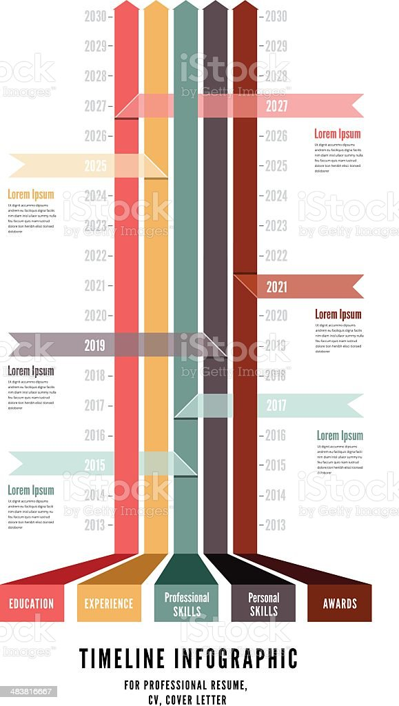 Timeline Web Element Template vector art illustration