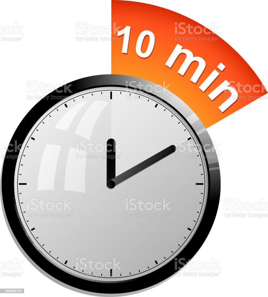 timer 10 minutes vector art illustration