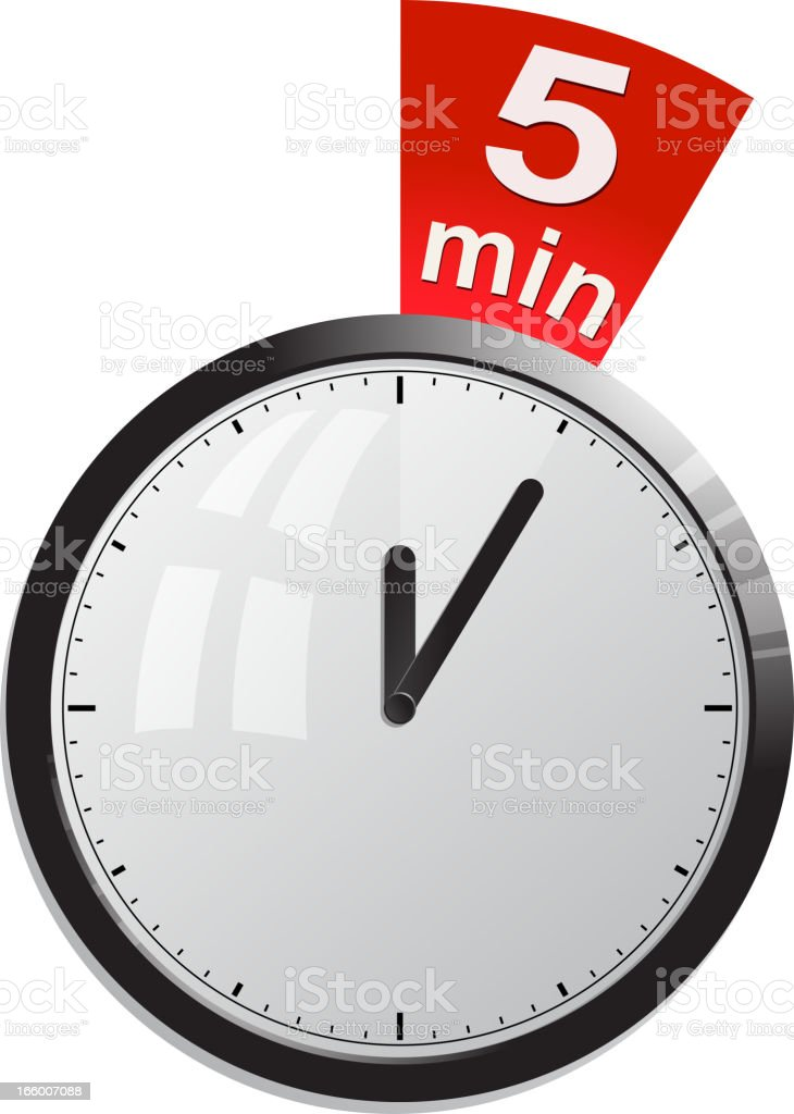 timer 5 minutes royalty-free stock vector art