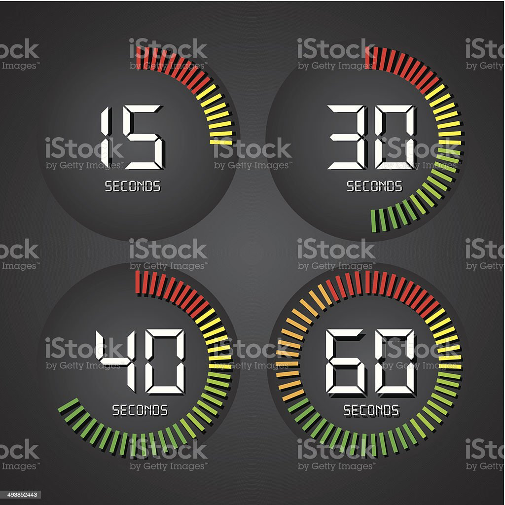 timer design vector art illustration