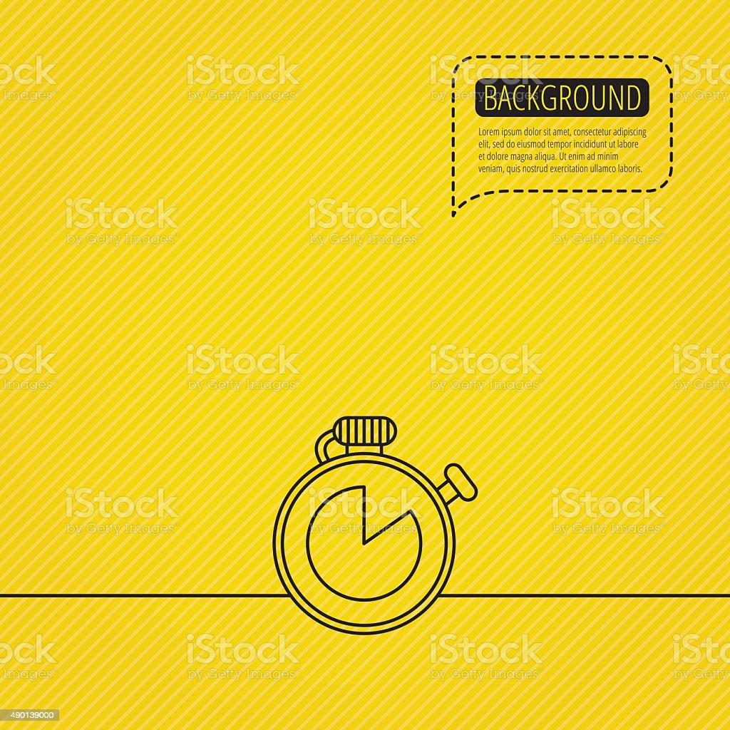 Timer icon. Stopwatch sign. vector art illustration