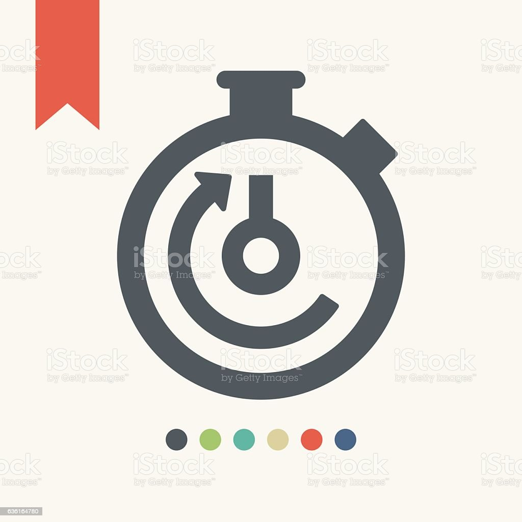 Timer icon vector art illustration