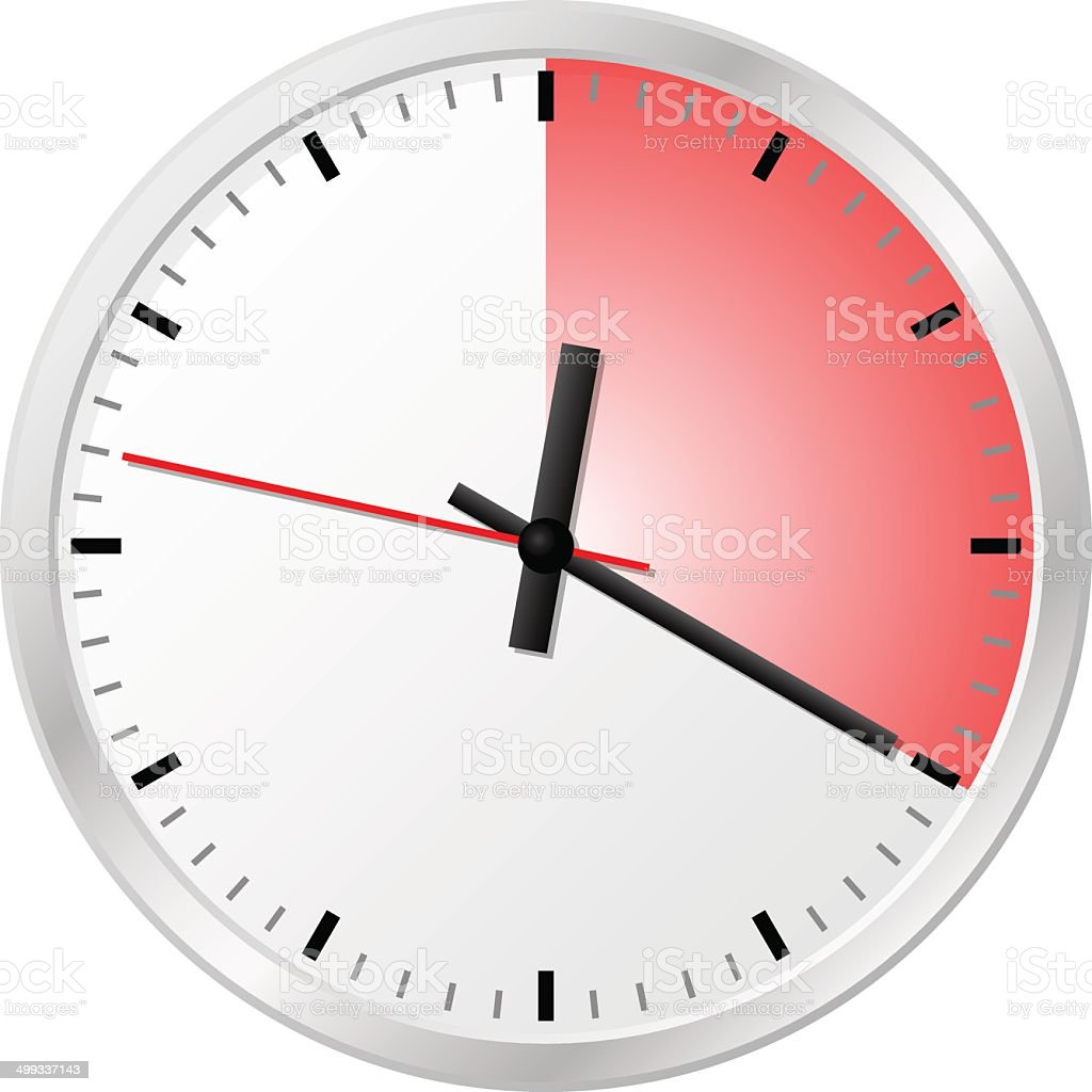 timer with 20 (twenty) minutes vector art illustration