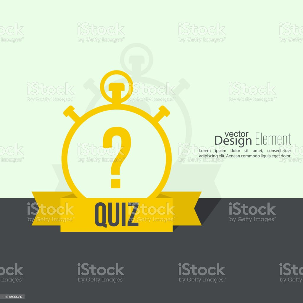 Timer with a question vector art illustration