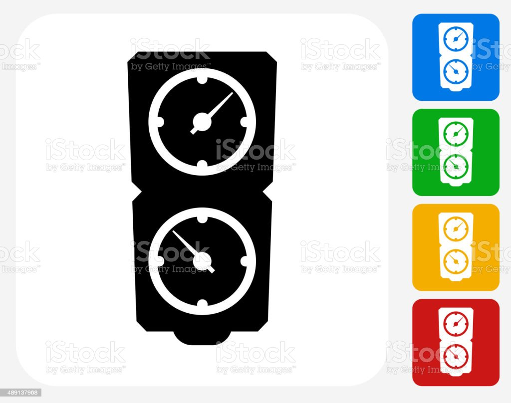 Timers Icon Flat Graphic Design vector art illustration
