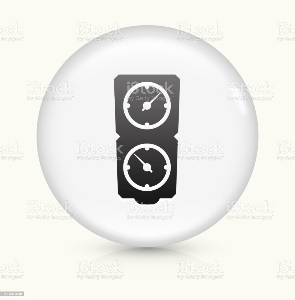 Timers icon on white round vector button vector art illustration