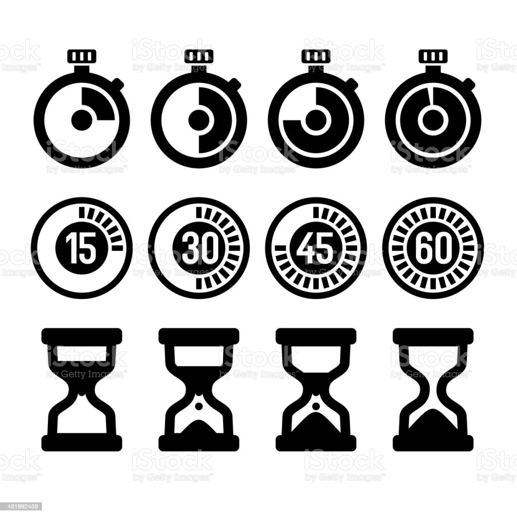 Timers icons set royalty-free stock vector art