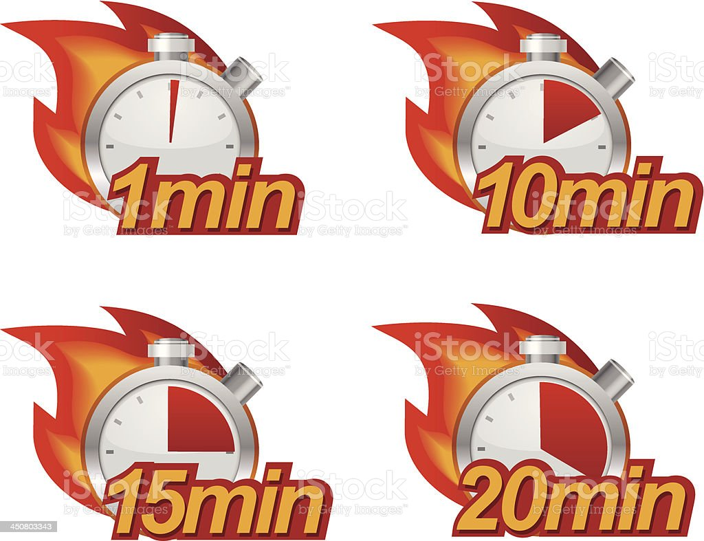 Timers set vector art illustration