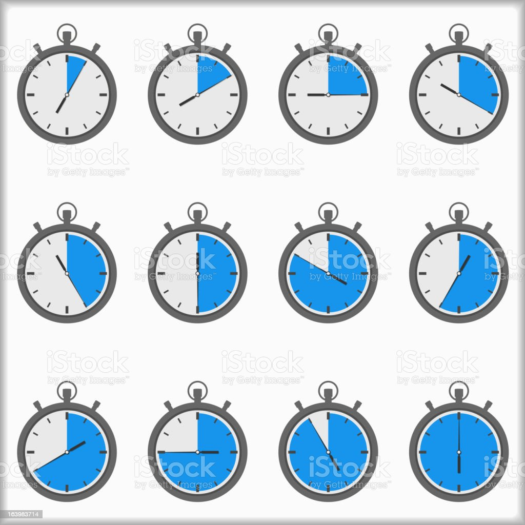 Timers royalty-free stock vector art
