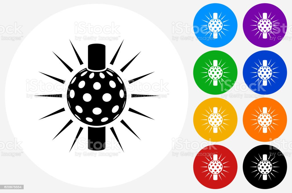 Times Square Ball Icon on Flat Color Circle Buttons vector art illustration