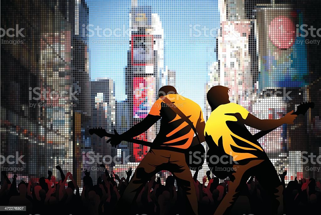 Times square rock royalty-free stock vector art