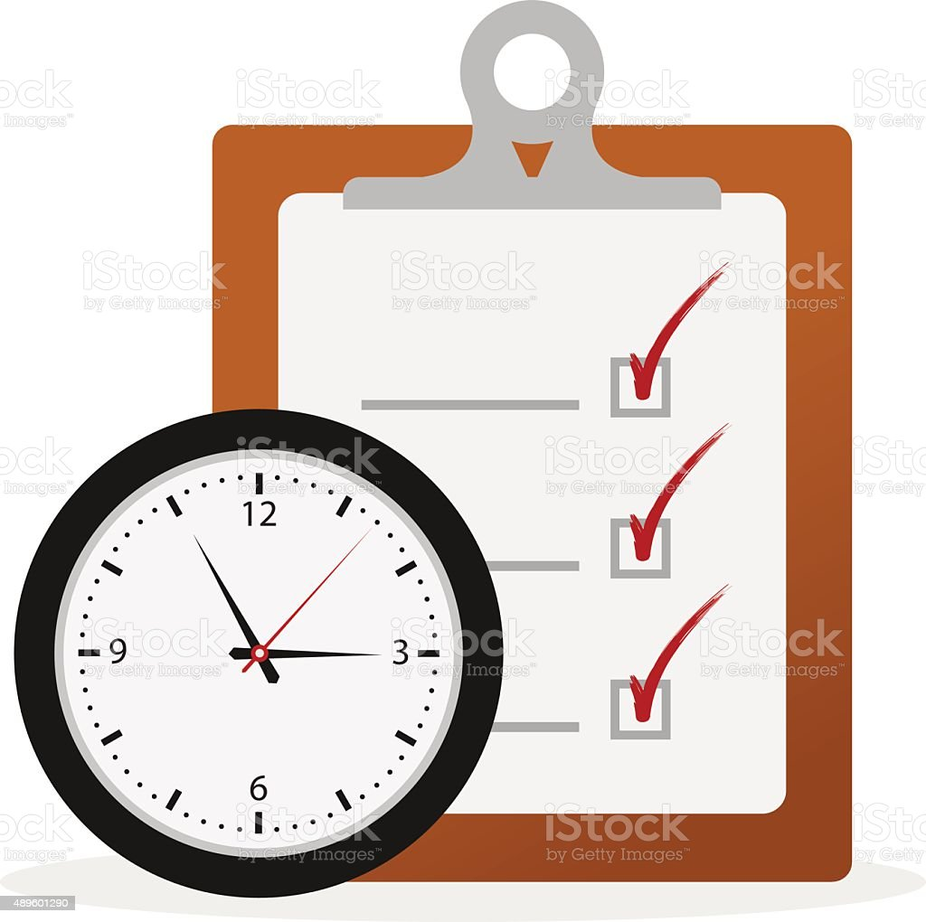 Timing Concept vector art illustration