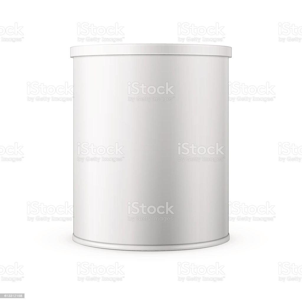 Tin can for powder milk. vector art illustration