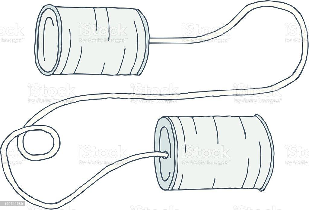 Tin Can Phone royalty-free stock vector art